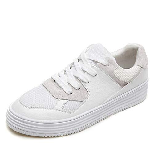 Herbst Abgerundete erhöhen Flache Frühjahr Turnschuhe Damenschuhe weiße Exing Invisible Leder Freizeitschuhe Wild Schuhe Komfort B Academy Kleine 87tAqU