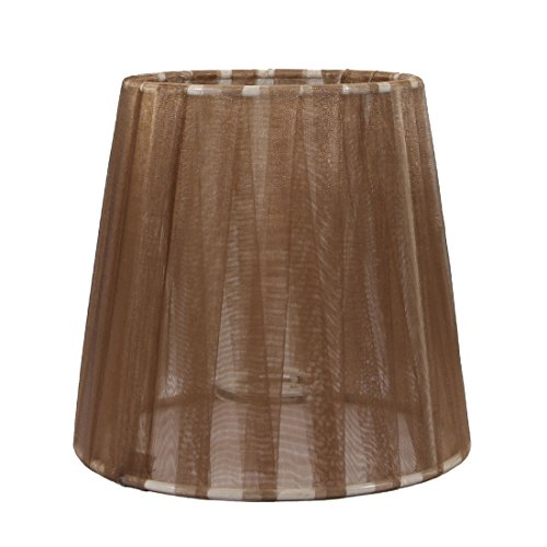 uxcell 11cm-15cm Dia 14cm Height Cloth Lamp Cover Shade Lampshade Brown for E14 Lamps