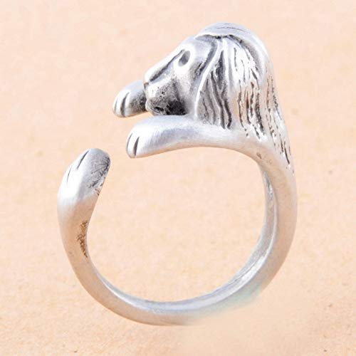 JZIEHI Antique Silver Antique Gold Hippie Mid Finger Lion Ring Chic Brass Knuckle Animal Wrap Rings Jewelry