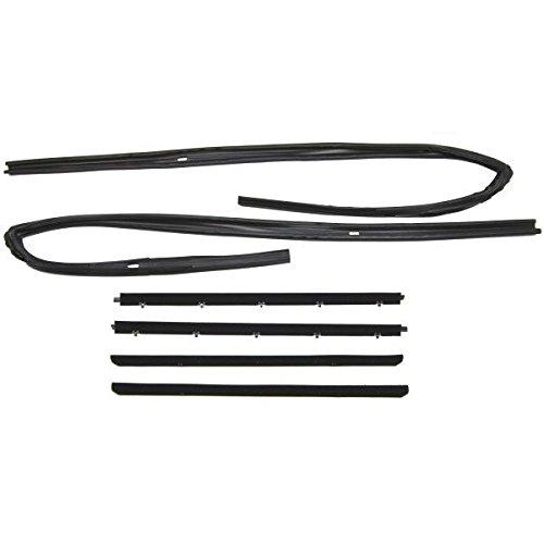 Beltline Weatherstrip - Precision Automotive 82-93 Chevy S10 Truck Door Beltline Molding Weatherstrip gasket Seal Kit