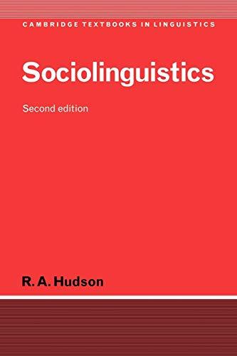 Sociolinguistics (Cambridge Textbooks in Linguistics)