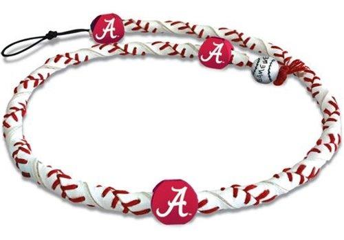 NCAA Alabama Crimson Tide A Logo Classic Frozen Rope Baseball Necklace