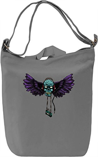 Flying zombie head Borsa Giornaliera Canvas Canvas Day Bag  100% Premium Cotton Canvas  DTG Printing 