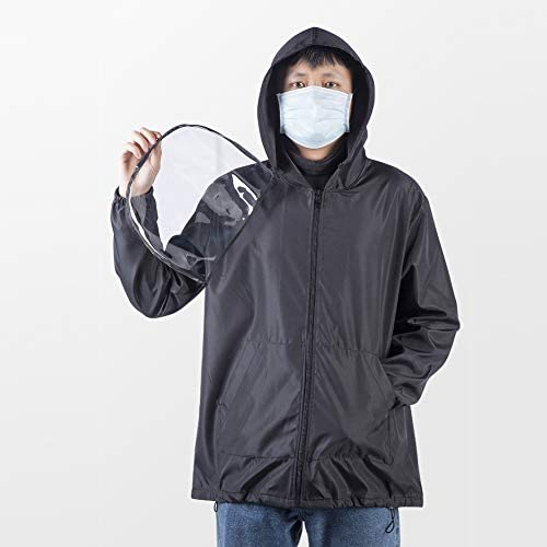 Detachable Face Shield Dustproof Saliva-Proof Hooded Jacket Protective Safety Workwear