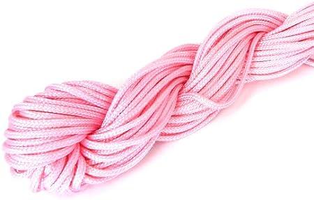 28 m cuerda de nailon/nylon hilo 1 mm de grosor - rosa ...