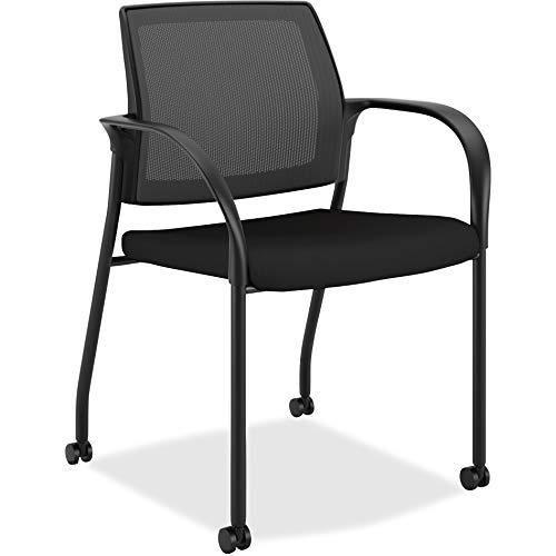 HON Ignition Mesh Back Chair with Fixed Arms - Multi-Purpose Stacking Chair, Black (HIGS6)
