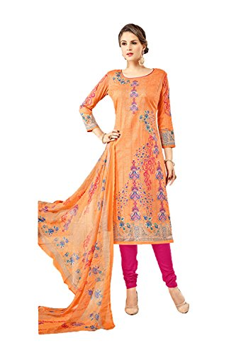 Facioun 3 Designer Partywear Women Ethnic Indian Salwar Da Traditonal Kameez Orange PdHWqP