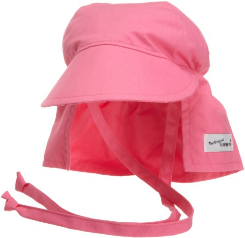Candy Pink Sun Hat - Flap Happy Flap Hat With Ties, Candy Pink Medium