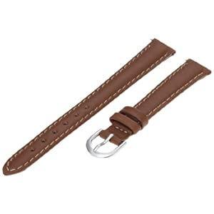 Timex Women's Q7B852 Padded Calfskin 12mm Brown Replacement Watchband