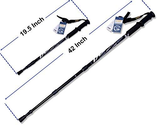 Hiking Stick Hiking Pole Walking Stick Shock Absorbing Trekking Pole(1 pack)