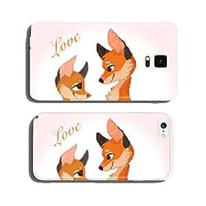 Vector Fox Love - Cute animal couple cell phone cover case Samsung S5