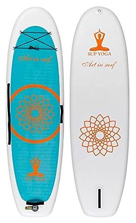 ART IN SURF Arte en Surf insup Yoga blanco Paddle Board, 10 ...