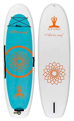 Art in Surf Insup Yoga White Paddle Board, 10'2'' x 35'' x 6''/334 L, White by Art in Surf