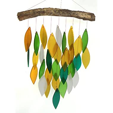 Blue Handworks Glass Waterfall Wind Chime, Amazon Green