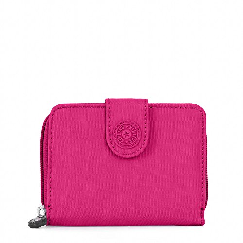 Wallet Travel Nylon Crinkle (Kipling New Money Wallet, Very Berry, One Size)