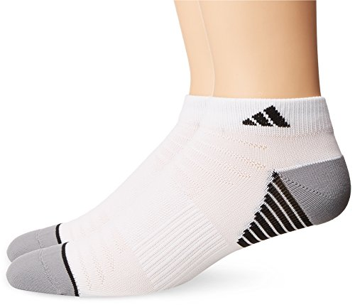 adidas Men's Superlite Speed Mesh Low Cut Socks (2 Pack), White/Black/Light Onyx, Large - Essential Low Cut