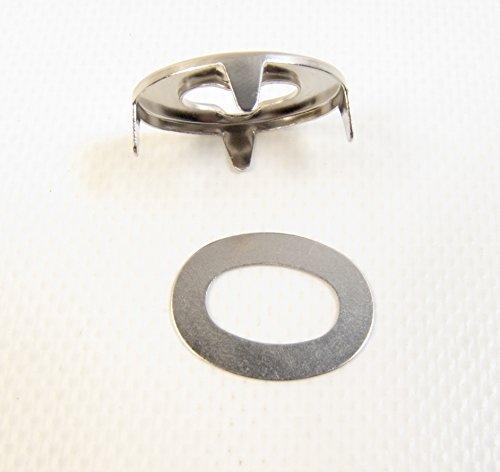 DOT Common Sense Eyelet w/ Backing Plate, Marine Grade Nickel Plated Brass (20 Piece Set) by Dot Scoville (Image #4)