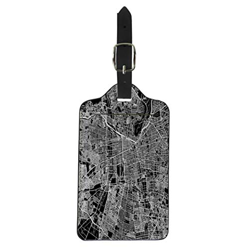 - Pinbeam Luggage Tag Santiago One Color Map Outline Ready for Change Suitcase Baggage Label
