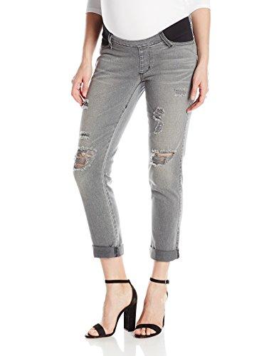 James Jeans Women's Maternity Neo Beau Under-Belly Slim Boyfriend Jean, Smoke, 27 - Underbelly Maternity Jeans