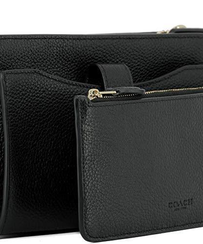 Noir Pochette Cuir 53529LIBLK Coach Femme EqazX