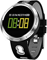 PowerLead Fitness Tracker, X9-V0 Blood Heart Rate IP68 Pulsera Resistente al Agua Smart Wearable Podómetro Touch Screen Activity Tracker, Bluetooth Reloj de Entrenamiento