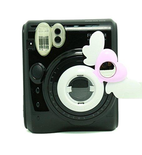 CAIUL Compatible Heart Mini 50s Close-Up Selfie Lens with Self-Portrait Mirror for Fujifilm Instax Mini 50s - Heart Lens