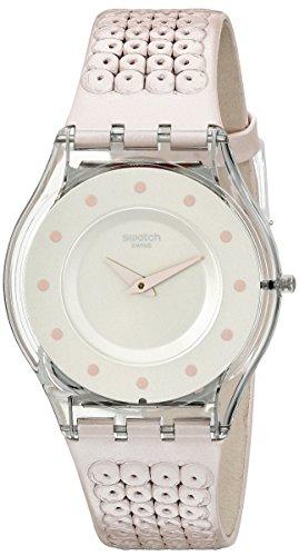 Swatch Women's SFK387 Skin Analog Display Swiss Quartz Pink Watch ()
