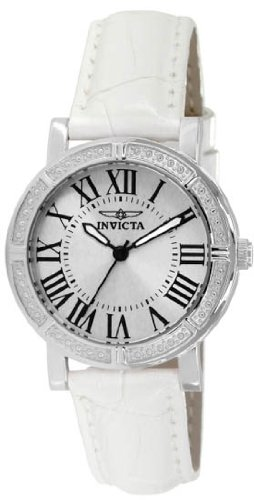 Invicta Wildflower White Dial White Leather Ladies Watch 14891