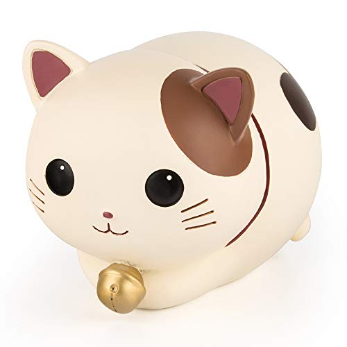 YSLON Cute Kitten Piggy Bank,Kids Money Bank,for Boys and Girls Gifts,Desktop Decor.