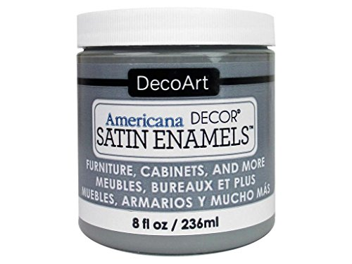 Grey Satin Enamel - DecoArt Décor Americana Decor Satin Enamels 8oz SmokGrey