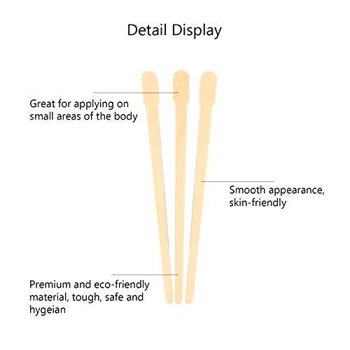 Matogle 600pcs Wooden Wax Spatulas Waxing Applicator Sticks Wood Tongue Depressors for Facial Care Eyebrow Hair Removal