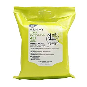 Almay Clear Complexion 4-in-1 Makeup Remover 25 count each (2-