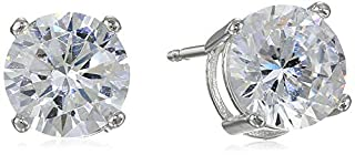 Amazon Essentials Platinum Plated Sterling Silver Round Cut Cubic Zirconia Stud Earrings (5mm) (B0015MN91O) | Amazon Products