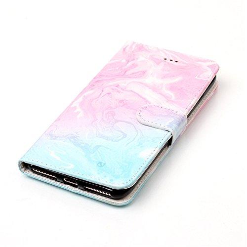 Vandot para iPhone 7 Plus PU Funda Serie Bolsa Modelo Colorido con Bonito Hermoso Patrón de Impresión Dibujo Monedero de la Cartera de la Cubierta Móvil del Bolso del Teléfono Móvil del Proteja la pie DLS PT 03