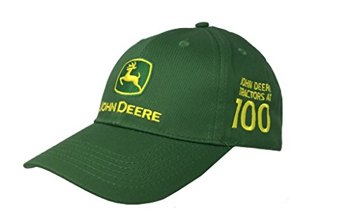 John Deere Mens 100 Year Anniversary Cap - Green (Made In John Deere)