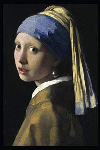 The girl with a pearl earring: Blank Journal; Johannes Vermeer notebook / composition book, 140 pages, 6 x 9 inch (15.24 x 22.86 cm) Laminated (Girl With The Pearl Earring Book)