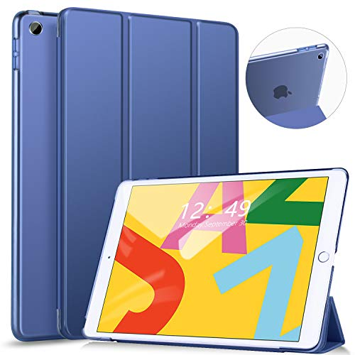 [해외]Ztotop 케이스 iPad 10.2cm 2019 - 슬림 경량 3중 스탠드 스마트 쉘 / Ztotop Case for iPad 10.2 Inch 2019 - Slim Lightweight Trifold Stand Smart ShellAuto WakeSleep + Rugged Translucent Back Cover for iPad 7th Generation 10.2 2019, Nav...