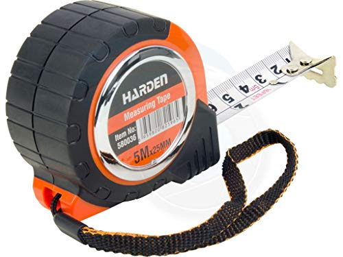 (5M 16.5FT Carpenter Rubber Heavy Duty Measuring Tape Metric Imperial)