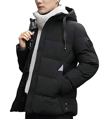 Packable Coat Slim Casual Thicken Down Pocket Mens TTYLLMAO Fit Black YnqaFpx6Hw
