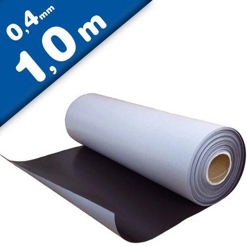 Foglio magnetico naturale con adesivo 0,4mm x 0,62m x 1m - utilizzabile per lavori di arte, presentazioni e progetti educativi Magnosphere