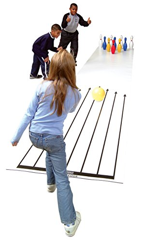 Cramer Cosom Indoor Bowling Lane for Use with Lightweight Plastic or Foam Pins and Balls, Physical Education Equipment, Childrens Bowling Lane, Plastic Bowling Equipment, Childrens Toy Bowling Lane ()