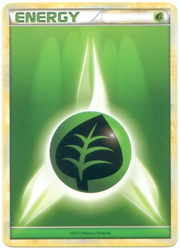 Grass Energy Pokemon Card (Heart-Gold & Soul-Silver Series) Green/Leaf Type