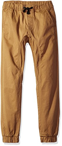 Southpole Big Boys' Basic Stretch Twill Jogger Pants, Tobacco, (Twill Clothing)