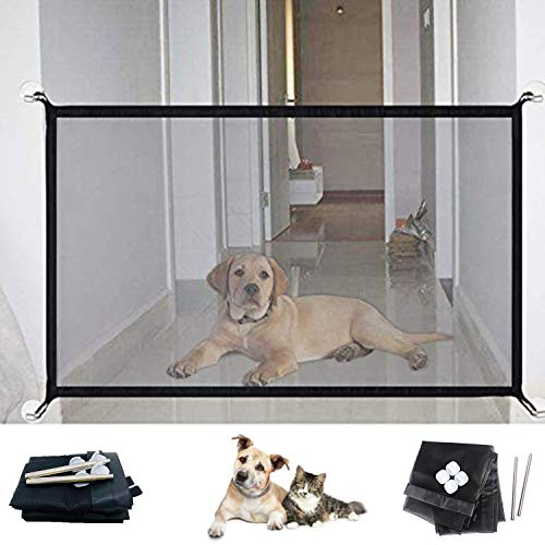 ME Superb Gate for Dog and Pets | Mesh Screen Indoor Net Dog Gate | Portable Folding Mesh Safety Enclosure Fence Guard…