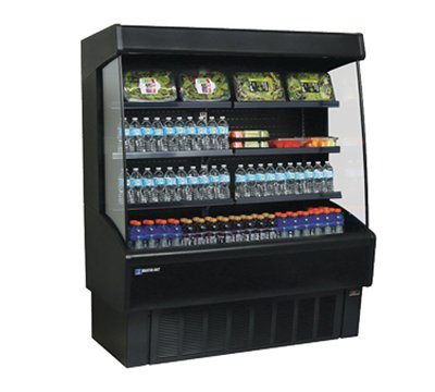 Master-Bilt, VOAM48-72, Vertical Open Air Merchandiser, Refrigeration, 24.2 Cubic Feet, Black