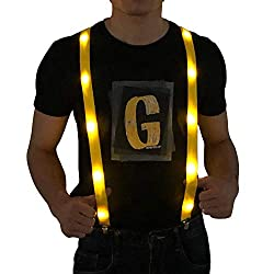 LED Light up Suspenders In Yellow Color