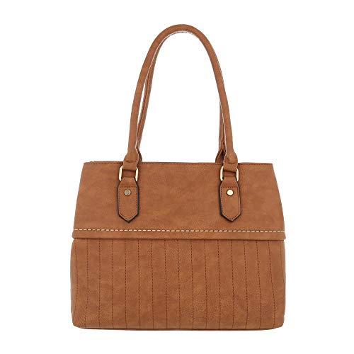al claro para Marrón hombro Size Sintético Design de One Bolso Ital mujer marrón vwHqBWE