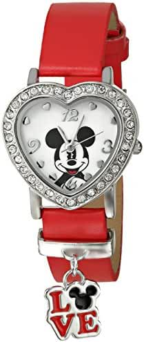 Disney Kids' MCKAQ1343 Mickey Mouse Analog Display Analog Quartz Red Watch