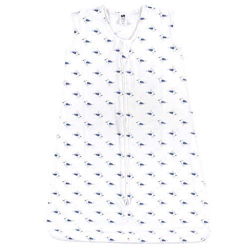 Hudson Baby Wearable Safe Soft Jersey Cotton Sleeping Bag, Seagull 0-6 Months ()