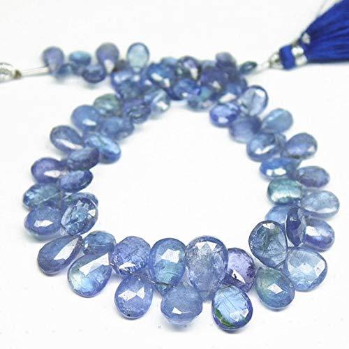 "5mm x 7mm Garnet Flat Teardrop Beads 14/""-15/"" Inch Strand Gorgeous Color"